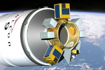 Pierscień SSPS wraz z ładunkami / Credits: SpaceX