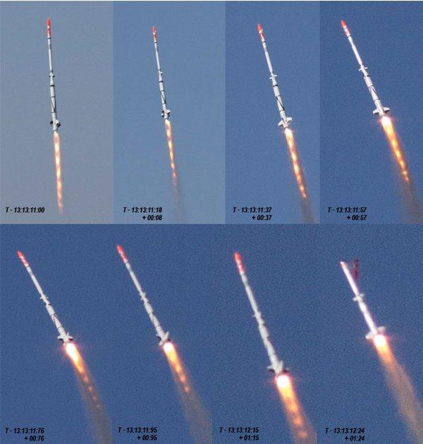 Pierwsze momenty lotu SMARAGD-1 - 27.07.2012 / Credits -  Jev Olsen, Copenhagen Suborbitals