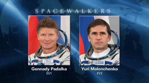 Wykonawcy spaceru kosmicznego EVA-31 / Credits: NASA