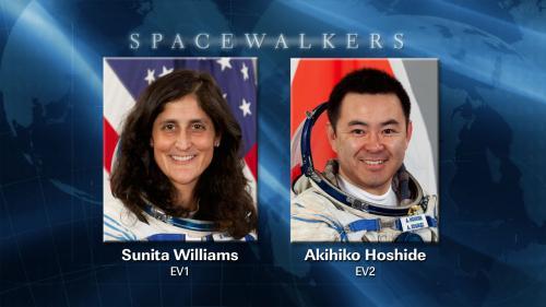 Dzisiejsi wykonawcy spaceru kosmicznego / Credits: NASA TV