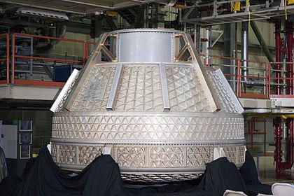 Budowana kapsuła załogowa CST-100 firmy Boeing / Źródło: The Boeing Co.