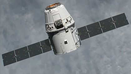 Kapsuła Dragon, jeszcze w wersji cargo / Źródło: NASA