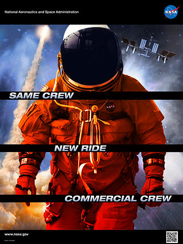 Plakat programu Commercial Crew Program (CCP) / Źródło: NASA