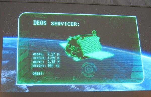 Zdjęcie ujęcia z animacji DLR i Astrium, dotyczące misji DEOS / Credits - K. Kanawka