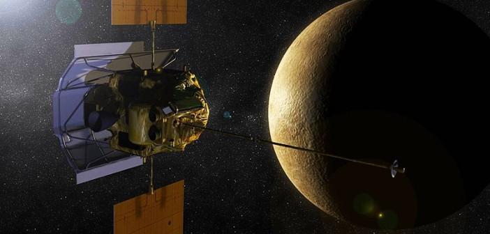 MESSENGER i Merkury - wizja artystyczna / Credits: NASA