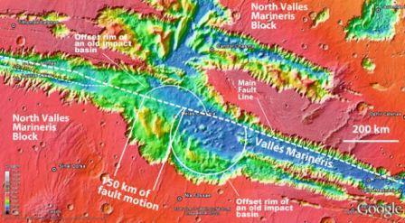 Płyty tektoniczne na Marsie/ Credits: UCLA