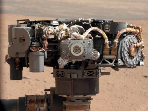 Zdjęcie instrumentu APXS / Credits: NASA/JPL-Caltech