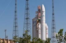 Start rakiety Ariane 5, 28 września 2012 / Credits: Arianespace