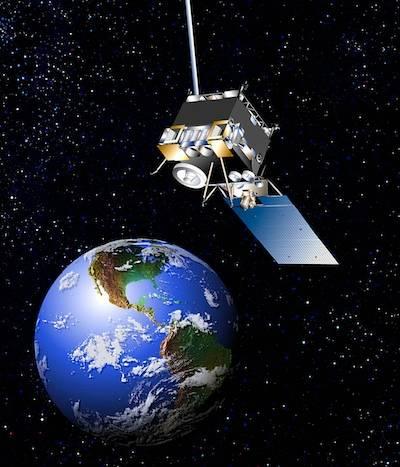 Artystyczna wizja satelity GOES 13 nad Ziemią / Credits: Boeing