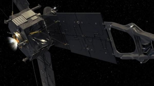 Artystyczna wizja manewru odpalenia silnika głównego sondy Juno / Credits: NASA,JPL-Caltech,Eyes