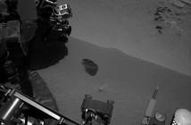 Widoczny obszar skąd została pobrana pierwsza próbka marsjańskiego gruntu przez misję MSL / Credits - NASA, JPL