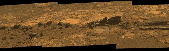 Formacje skalne na wzgórzu Matijevic / Credits: NASA