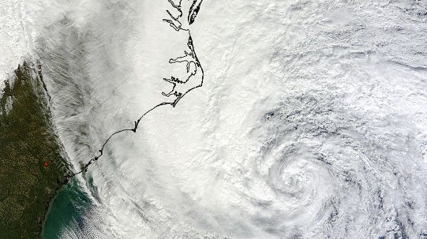 Huragan Sandy u wybrzeży USA - 28.10.2012 / Credits: NASA