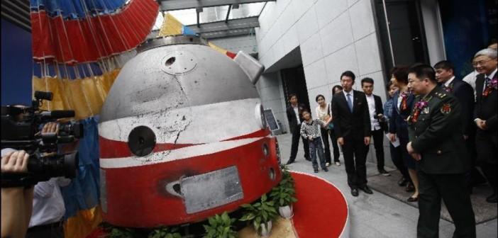 Yang Liwei podczas otwarcia wystawy w Szanghaju / Credits: Xinhua, Pei Xin