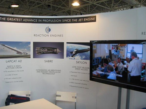 Stanowisko firmy Reaction Engines (twórcy Skylona) na IAC 2012 / Credits - K. Kanawka, kosmonauta.net