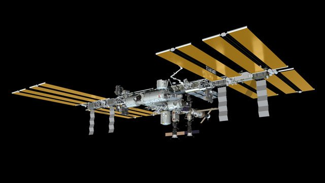 Widok ISS po cumowaniu Progressa M-17M / Credits - NASA