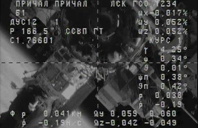 Tuż przed cumowaniem Progressa M-17M do ISS - 31.10.2012 / Credits - NASA TV