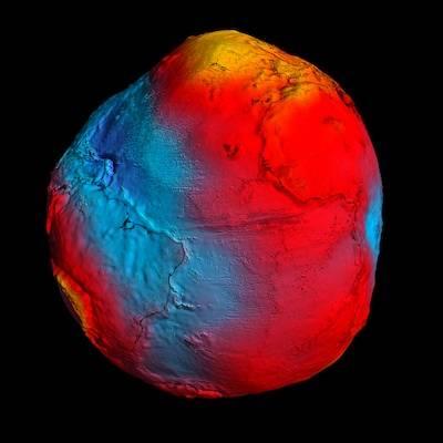 Misja GOCE dostarczyła najbardziej dokładne odwzorowanie geoidy / Credits: ESA/HPF/DLR