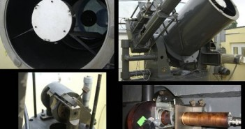 Teleskop do obserwacji laserowych. / Foto OA Borowiec.