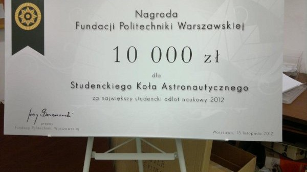 Czek 10000 zł dla SKA / Credits - SKA