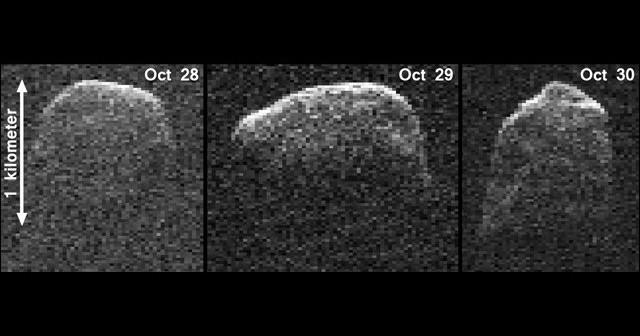 Radarowe obrazy 2007 PA8 / Credits - NASA/JPL-Caltech/Gemini