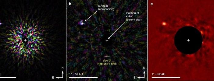 Egzoplaneta kappa And b widziana okiem obserwatorium Subaru / Credits - Subaru/HiCIAO