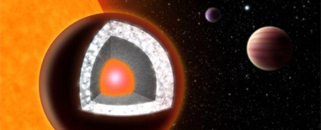 55 Cancri e - diamentowa planeta / Credits: Uniwersytet Yale