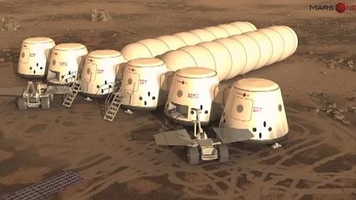 Mars One chce założyć kolonie na Marsie przy pomocy kapsuł Dragon / Credits: Mars One