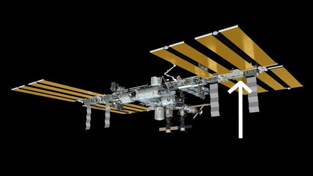 Miejsce prac dla spaceru EVA-20 - 01.11.2012 / Credits - NASA