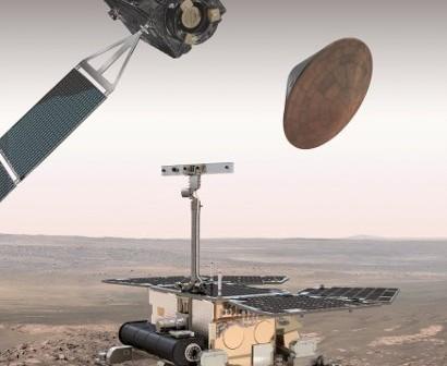 Orbiter i łazik ExoMars - wizualizacja / Credits: ESA