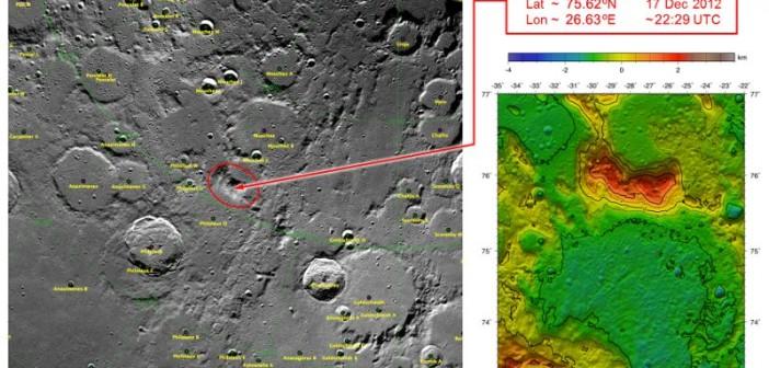 Miejsce, w które uderzyły sondy GRAIL / Credits - NASA