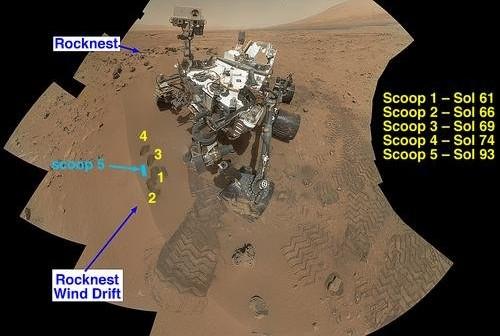 Łazik MSL przy Rock Nest / Credits - NASA/JPL-Caltech/MSSS