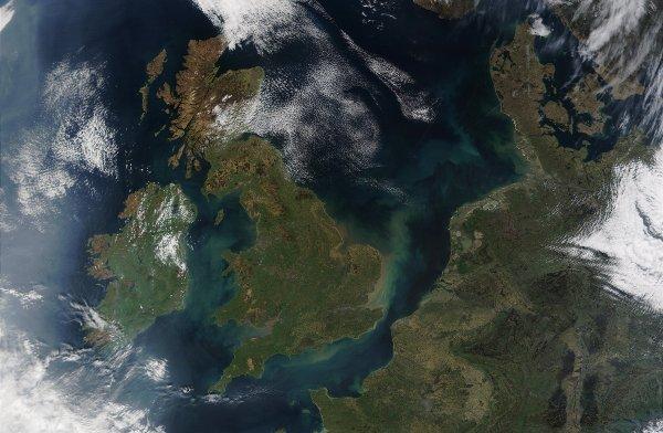 Wielka Brytania widziana z orbity / Credits - NASA