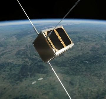 Polski PW-Sat zbudowany został na standarcie Cubesat 1U / Credits: SKA