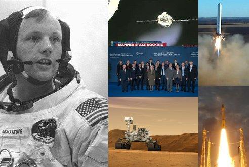 2012 rok w światowej astronautyce / Credits - NASA, ESA, CCTV, SpaceX