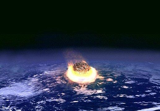 Uderzenie planetoidy w Ziemię / Credits - NASA