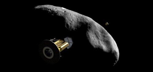 Wizja sond serii Arkyd 200 w okolicy planetoidy Bliskiej Ziemi / Credits - Planetary Resources