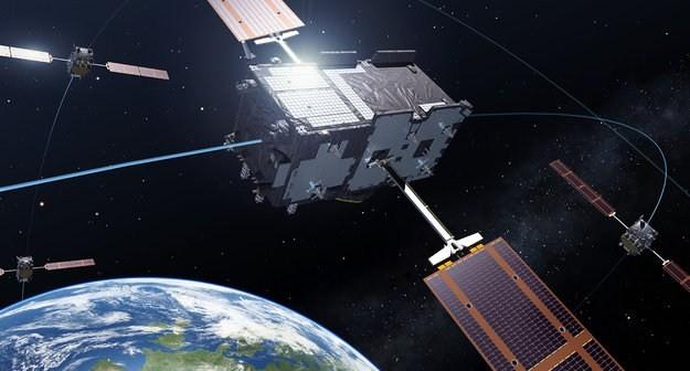 Satelity Galileo na orbicie - wizualizacja / Credtis: ESA