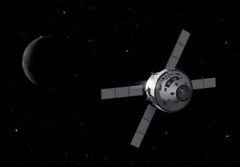 Orion z modułem serwisowym ATV / Credtis: NASA