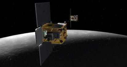 Sondy GRAIL na orbicie wokółksiężycowej / Credits - NASA