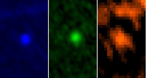 Apophis obserwowany przez teleskop Herschel / Credtis: ESA