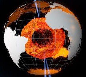 Jądro Ziemi - wizualizacja / Credits: ESA - AOES Medialab