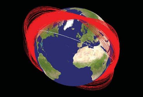 Miesiąc po chińskim teście ASAT - 2007 rok / Credits - NASA