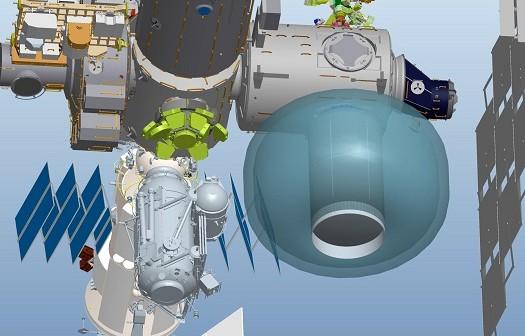 Moduł BEAM dołączony do Międzynarodowej Stacji Kosmicznej (grafika z 2010 r.) / Źródło: NASA