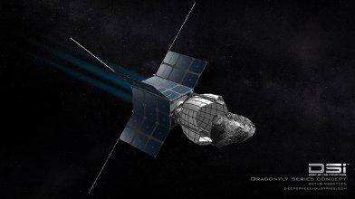 Sonda DragonFly zbliża się do małej planetoidy / Credits - DSI