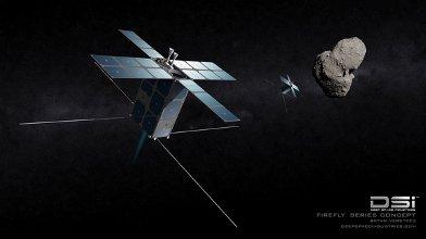 Sondy serii Firefly zbliżają się do planetoidy typu NEO / Credits - DSI