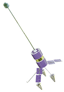 Satelita Goniec-M, o podobnej konstrukcji do serii Strela / Credits: NPO PM