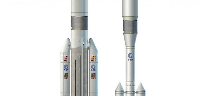 Ariane 5 ME i Ariane 6 - rysunki koncepcyjne / Credits: ESA