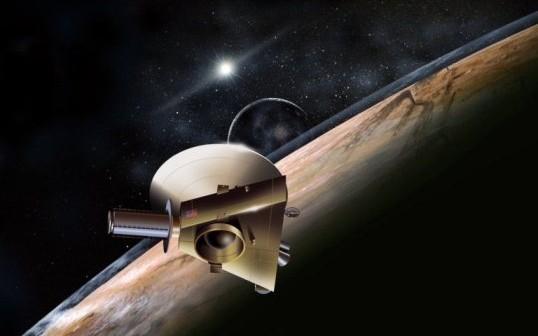 Wizja artystyczna przelotu sondy New Horizons w pobliżu Plutona / Credits - NASA