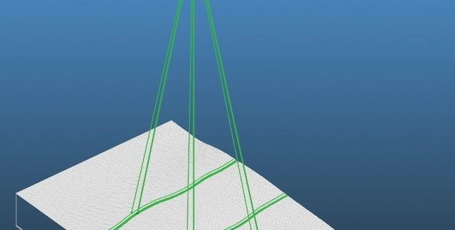 ICESat-2 - koncept pomiaru pokrywy lodowej - wizualizacja / Credits: NASA